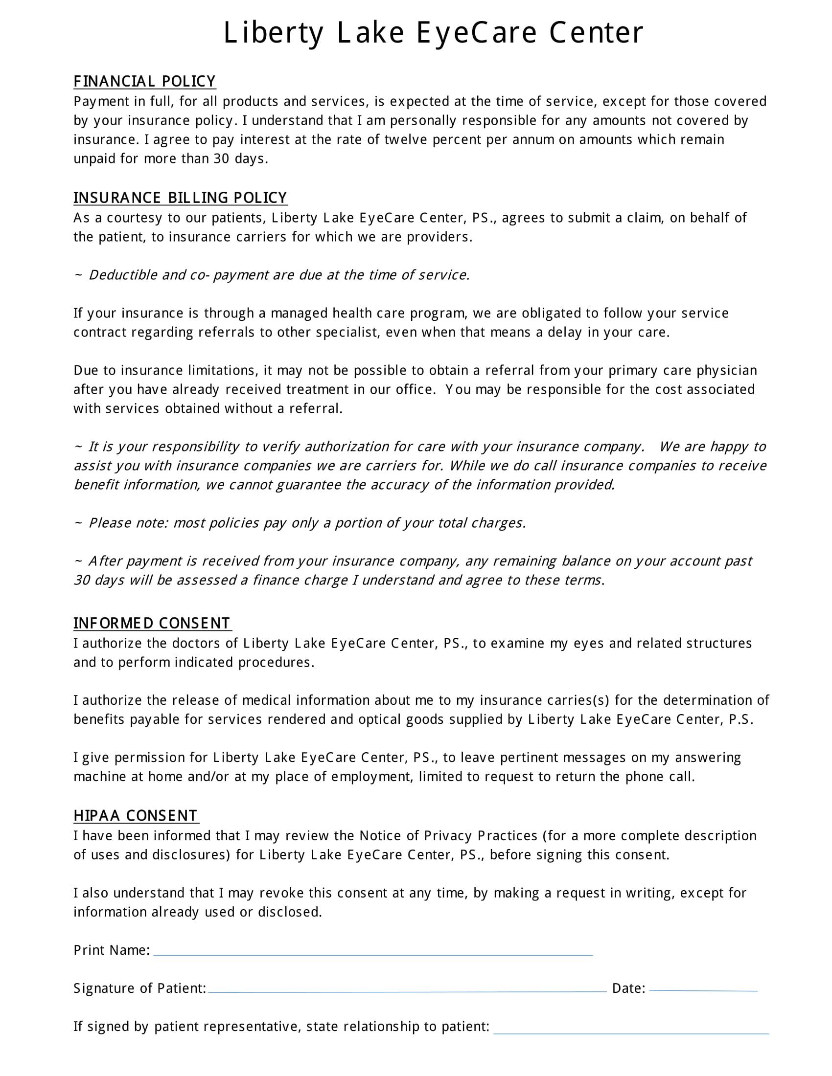Liberty Lake EyeCare Center - Optometrist in Liberty Lake, WA on ada medical forms, hipaa activities, billing medical forms, cobra medical forms, insurance medical forms, osha medical forms,